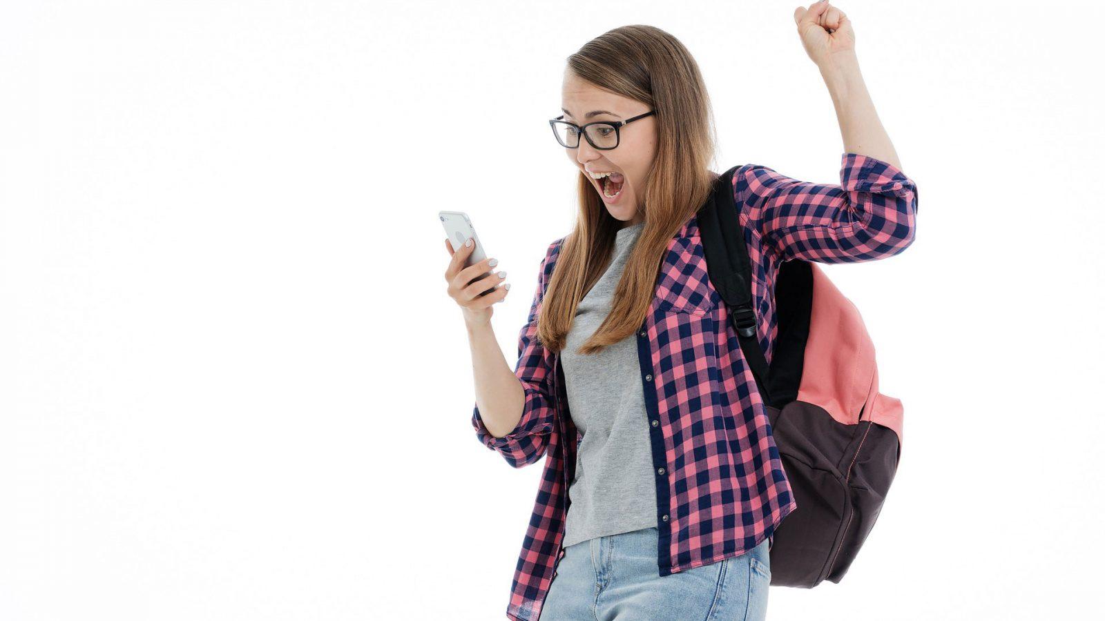 Etudiante heureuse candidature IUT Annecy